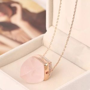 Michael Kors pink crystal necklace